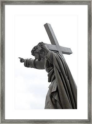 Jesus Framed Print by Stanislovas Kairys