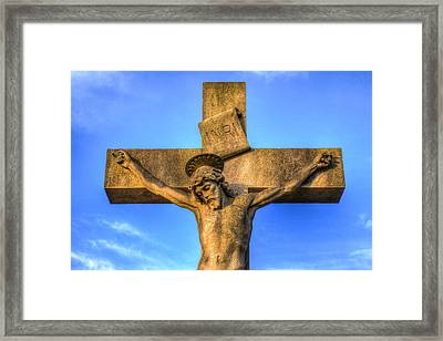 Jesus Statue Framed Print by David Pyatt