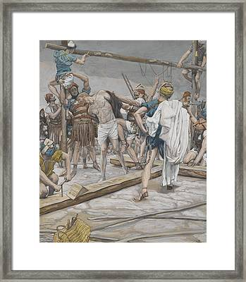 Jesus Stripped Of His Clothing Framed Print by Tissot