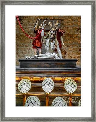 Jesus Suffering Framed Print