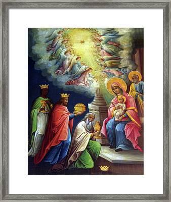 Jesus The King Framed Print by Munir Alawi