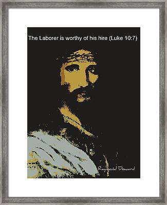Jesus The Son Framed Print by Raymond Doward