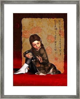 Jesus To A Child I Framed Print