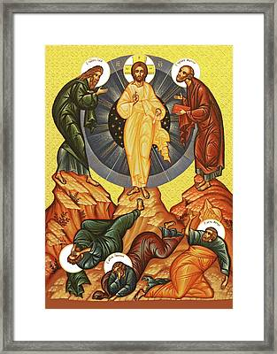 Jesus Transfiguration Framed Print by Munir Alawi