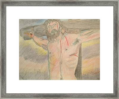 Jesus  Framed Print by Victoria Hasenauer