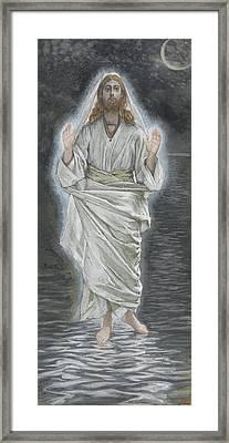Jesus Walks On The Sea Framed Print by Tissot
