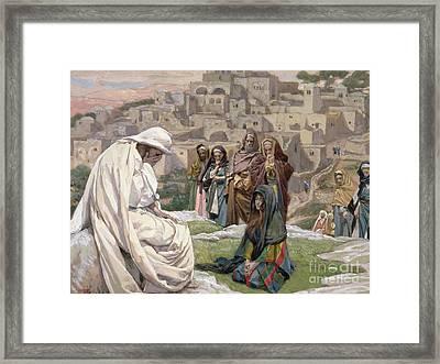 Jesus Wept Framed Print