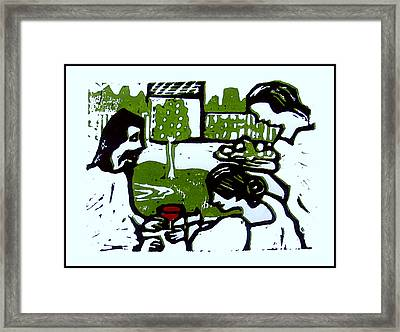 Jesus With Mary And Martha I Framed Print by Adam Kissel