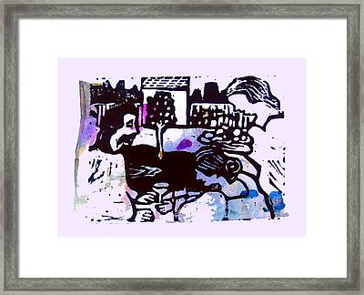 Jesus With Mary And Martha IIi Framed Print by Adam Kissel