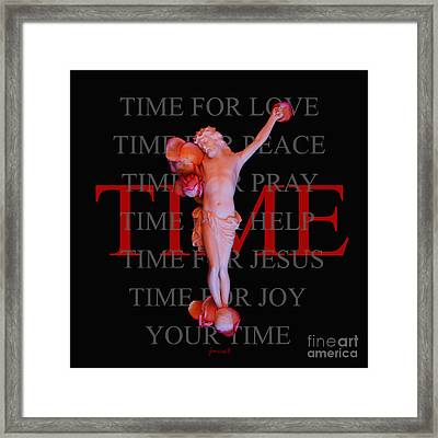Inri Jesus Time M23 Framed Print by Johannes Murat