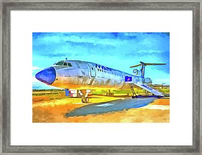 Jet Aircraft Pop Art Framed Print