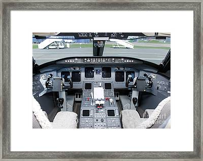 Jet Airplane Cockpit Framed Print
