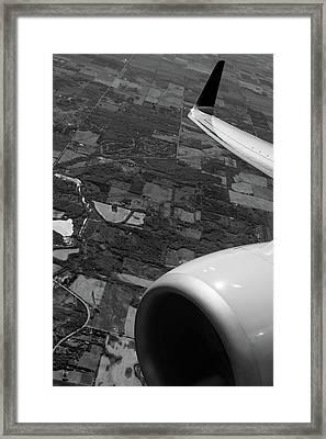 Jet B W Framed Print by Steve Gadomski