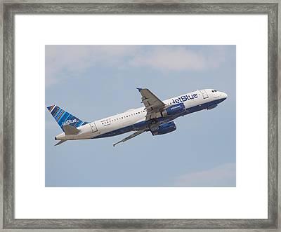 Jet Blue Framed Print