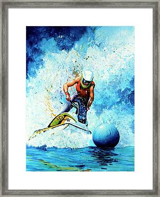 Jet Blue Framed Print by Hanne Lore Koehler