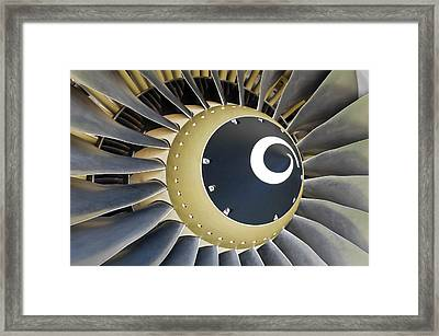 Jet Engine Detail. Framed Print by Fernando Barozza