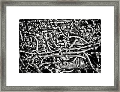 Jet Engine Framed Print by Olivier Le Queinec