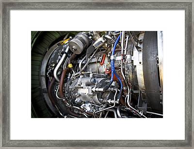 Jet Engine Framed Print by Ricky Barnard