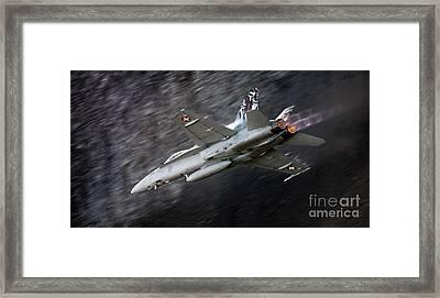 Jet Fighter Framed Print by Angel  Tarantella