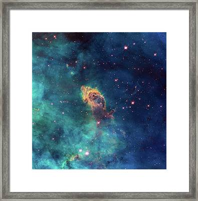 Jet In Carina Framed Print by Marco Oliveira