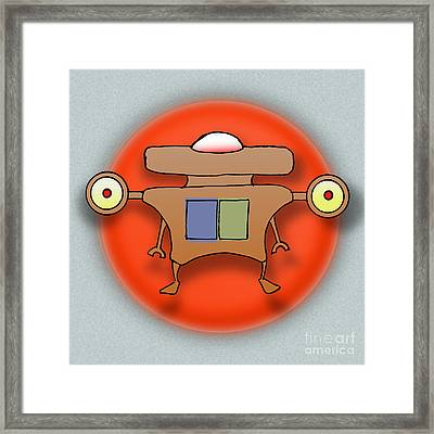 Jet Paq Framed Print by Uncle J's Monsters