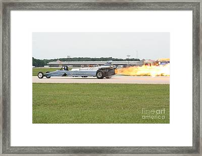 Jet Powered Funny Car Framed Print by Eric Irion