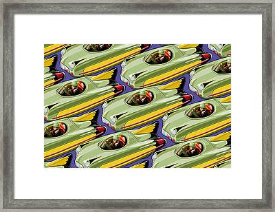 Jet Racer Rush Hour Framed Print by Ron Magnes