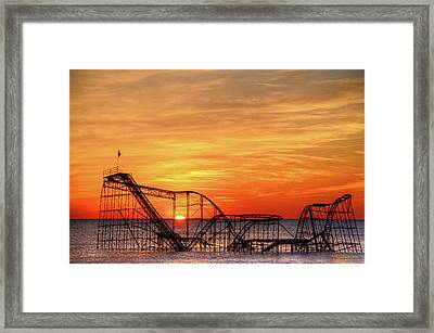 Jet Star Sunrise, Seaside Heights Nj Framed Print
