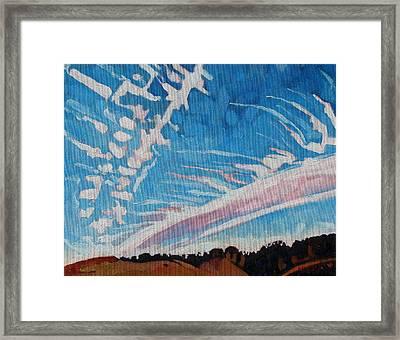 Jet Stream Framed Print