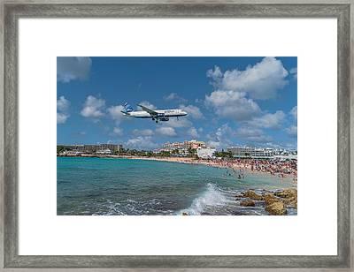 jetBlue at St. Maarten Framed Print