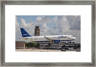 Jetblue Fll Framed Print