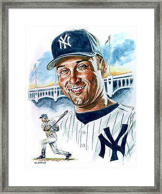 Jeter Framed Print by Tom Hedderich