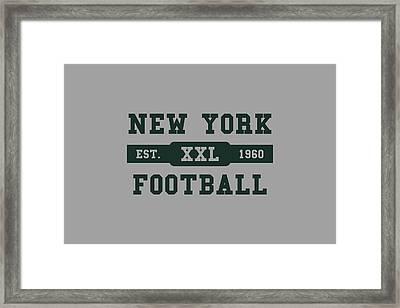 Jets Retro Shirt Framed Print by Joe Hamilton