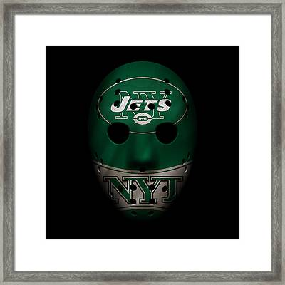 Jets War Mask 2 Framed Print