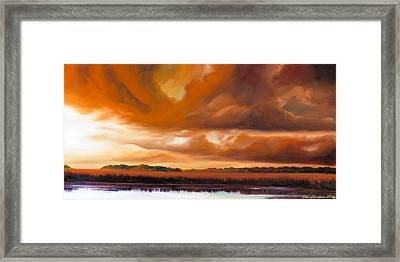 Jetties On The Shore Framed Print by James Christopher Hill