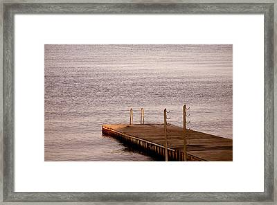 Jetty At Helleruphavn Framed Print by Michael Canning