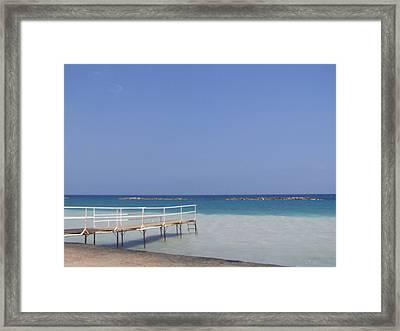 Jetty Beach.  Framed Print by Christopher Rowlands