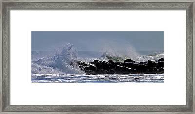Jetty Breakers Framed Print by William Walker