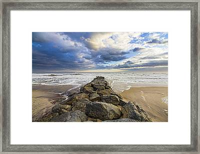 Jetty Four Cloudscape Framed Print