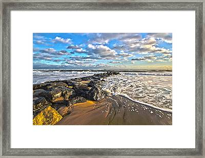 Jetty Four Framed Print