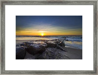 Jetty Four Sunrise Framed Print
