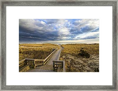 Jetty Four Walkway Framed Print