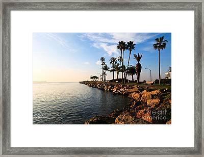 Jetty On Balboa Peninsula Newport Beach California Framed Print