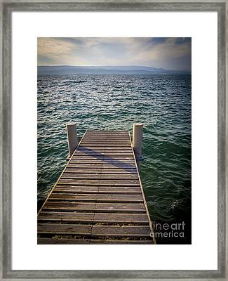 Jetty On Lake Leman Framed Print