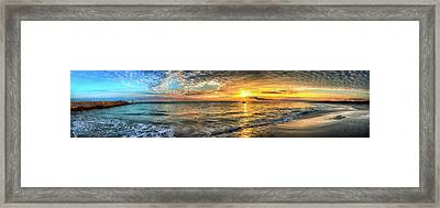 Jetty Sunrise Panorama Framed Print