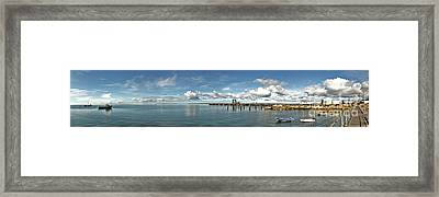 Framed Print featuring the photograph Jetty To Shore by Stephen Mitchell