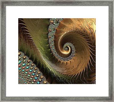 Jewel And Spiral Abstract Framed Print by Marianna Mills