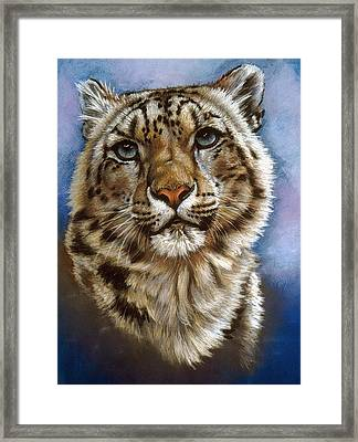 Framed Print featuring the pastel Jewel by Barbara Keith