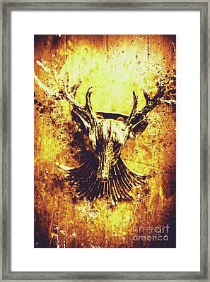 Jewel Deer Head Art Framed Print