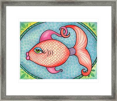 Jewel Fish Framed Print by Rachel Cotton